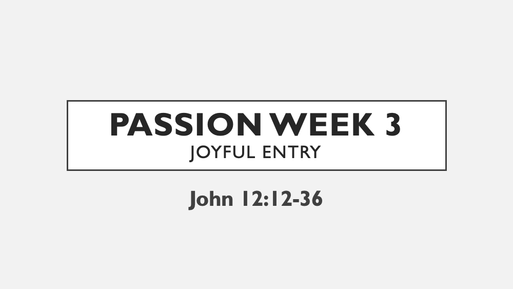 Passion: Week 3