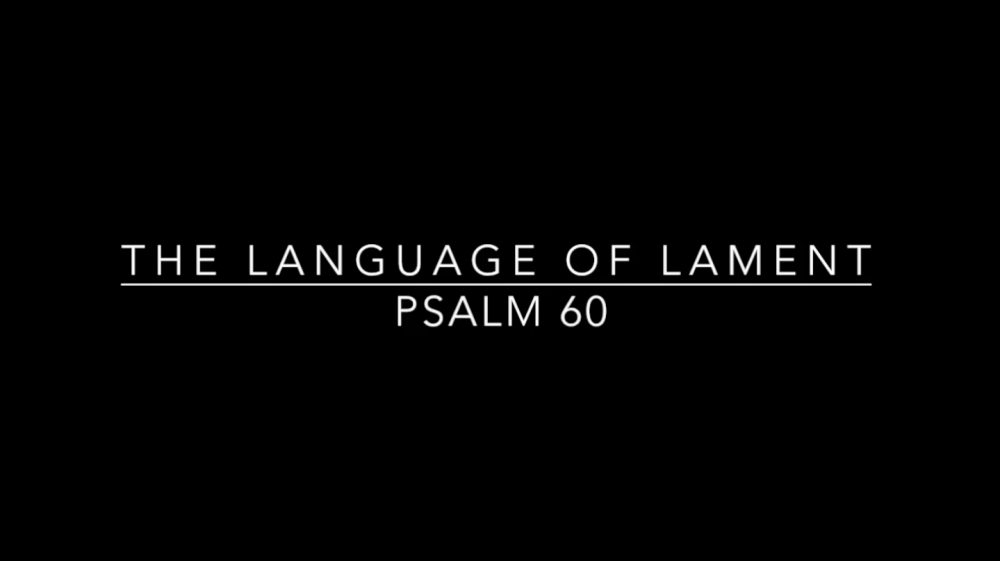 The Language of Lament - Week 2 Image